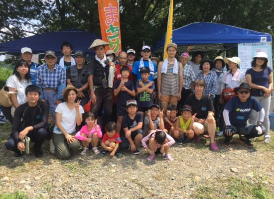 「めだかの学校プロジェクト・川遊び」が開催されました